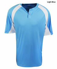 New Mizuno G3 MENS 2- Button Size-2XL Light Blue & White Jersey
