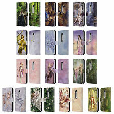 OFFICIAL SELINA FENECH FAIRIES LEATHER BOOK WALLET CASE FOR MOTOROLA PHONES