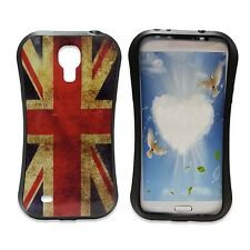 VINTAGE UNION JACK PRINT GEL HARD CASE COVER FOR SAMSUNG GALAXY S4 MINI I9190