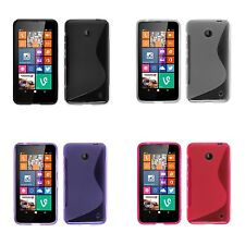 NOKIA LUMIA 630 S-LINE SILICONE GEL COVER CASE AND SCREEN PROTECTOR
