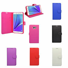 SAMSUNG GALAXY NOTE 5 BOOK FLIP PU LEATHER CASE SCREEN PROTECTOR VARIOUS COLOURS