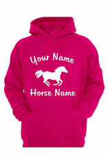 ADULTS HORSE RIDING PERSONALISED HOODIE (UC502)