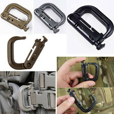 Molle Tactical Camp Hiking Clip Carabiner Locking D-Ring Hook Safety Buckle HG