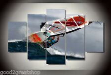Frames picture Surf Waves Group Sea photo Painting Wall Art Canvas Decor Poster