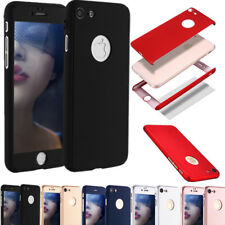 360° Hard PC Cover+Tempered Glass Protector Full Case For Apple iPhone 6 6s Plus