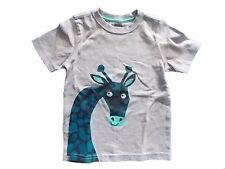 NWT Boy's Gymboree Blue Safari giraffe gray short sleeve shirt ~ 18-24 months 2T
