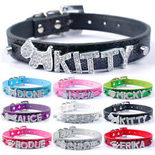 DIY Bling Glitter Personalized Dog Name Collars Free Letters for Dogs Cats