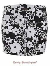 New Ladies Womens Floral Short Mini Bodycon Skirt Summer Party Fashion