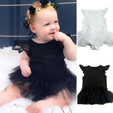 Newborn Baby Girls Romper Jumpsuit Bodysuit Sleeveless Tutu Dress Clothes Outfit