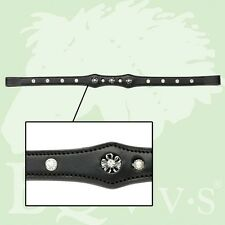 EQvvs Diamante on Oval Leather Browband # 9850