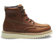 """Men Wolverine Work Wedge 6"""" Moc Toe Boot W08288 Leather Brown 100% Authentic New"""