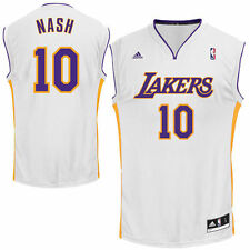 adidas Steve Nash Los Angeles Lakers White Replica Alternate Jersey