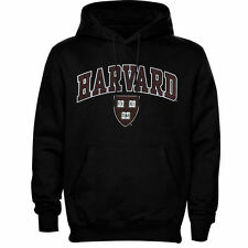 Harvard Crimson Black Arch Over Logo Hoodie