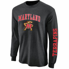 Maryland Terrapins Charcoal Arch & Logo Long Sleeve T-Shirt