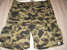 PRE-OWNED BAPE A BATHING APE GREEN CAMO CARGO PANTS LARGE