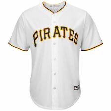 Majestic Pittsburgh Pirates Youth White Official Cool Base Jersey