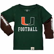Wes & Willy Miami Hurricanes Infant Green Football Fooler Long Sleeve T-Shirt