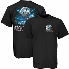 New England Patriots Black Helmet To Sky Graphic T-shirt