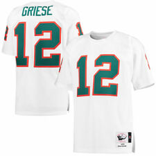 Mitchell & Ness Bob Griese Miami Dolphins White 1972 Throwback Authentic Jersey