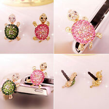 Crystal Turtle Earphone Jack Anti Dust Plug Cap Stopper for CellPhone 3.5mm HP1