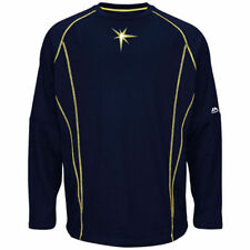 Majestic Tampa Bay Rays Navy On-Field Practice Pullover Sweatshirt