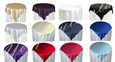 "1 Piece 60"" x 60"" Square Satin Table Overlay Party Event Celebration Occasion"
