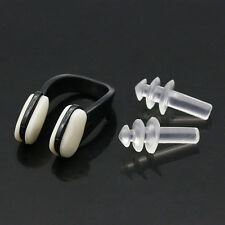 Silicone Pool Swimming Earplugs+Nose Clip+Case Water Sporting Protector Tool
