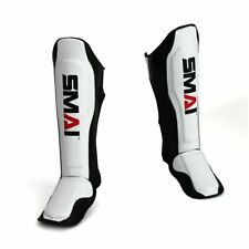SMAI V2 Shin Guard - Muay Thai Leather Shin Instep MMA Kick Boxing Shinguards
