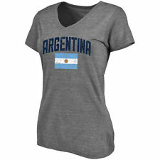 Argentina Women's Gray Pride Tri-Blend V-Neck T-Shirt