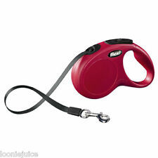 Flexi Classic Tape Retractable Dog Lead in Red 5m Small & Medium/Large