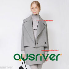 Autumn/Winter Long Sleeve Warm Coat Fashion Women's Wool Blend Jacket Grey New