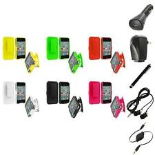 Holster Hard Case with Swivel Belt Clip Stand+Accessories for iPhone 4 4G 4S