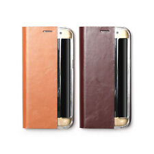 Zenus Signature Genuine Leather Slim Diary Cover Case For Samsung Galaxy S7 Edge