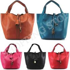 Fashion Womens Designer Faux Leather Style Celebrity Tote Bag Ladies Shoulder Ha