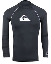 Quiksilver All Time Bonded Long Sleeve Rashguard (Black)