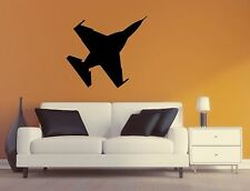 Military Plane Wall Decal - F16 Fighting Falcon Silhouette Sticker - Airplane 6