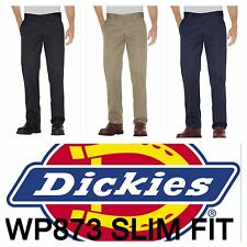 DICKIES WP873 SLIM STRAIGHT FIT WORK PANTS *NEW*