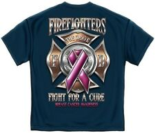 Firefighter Tshirt Fight For A Cure Breast Cancer Awareness EMS EMT Pink Rescue