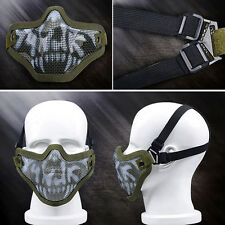 Survival Game Mesh Half Face Guard Mask Forest Camouflage Navy Seals Metal New