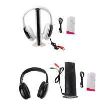 Stylish 5 in 1 Hi-Fi Wireless Headset Headphone Earphone for PC TV DVD MP3