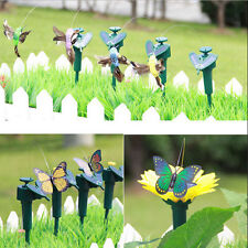 Vibration Solar Power Fluttering Flying Hummingbird Butterfly Garden Yard Decor