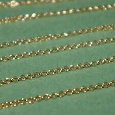 WHOLESALE LOTS 14kt Gold Filled 1.8mm ROLO / Belcher Chain BULK By the foot