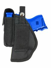 New Barsony OWB Gun Belt Loop Holster w/ Mag Pouch Colt Kimber Compact 9mm 40 45