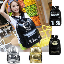 Vintage Women's Backpack Bling PU Leather Handbag Rucksack Shoulder School Bag