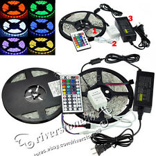 SMD 5M 300LED 3528/5050/5630 RGB/White Flexible Strip Light+Remote+Power Supply