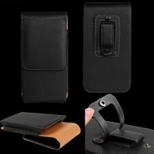 For SAMSUNG Galaxy PU Leather Elastic Belt Pouch Holster Holder Clip Case Cover