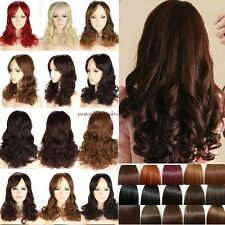 UK Stock Long Curly Wavy Full Hair Wigs Cosplay Party Fancy Dress Synthetic A47