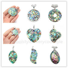 1x Natural Abalone Mother Of Pearl MOP Shell Bead Charm Pendant Fit Necklace DIY