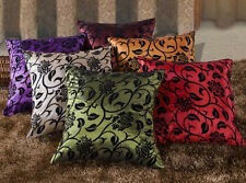 Floral Pattern Cushion Cover Case. Black and Red Purple Burgundy Orange or Green