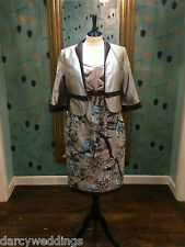 Silk Mother of the bride outfit by Linea Raffaelli. Taupe & Brown UK 14 & 18.